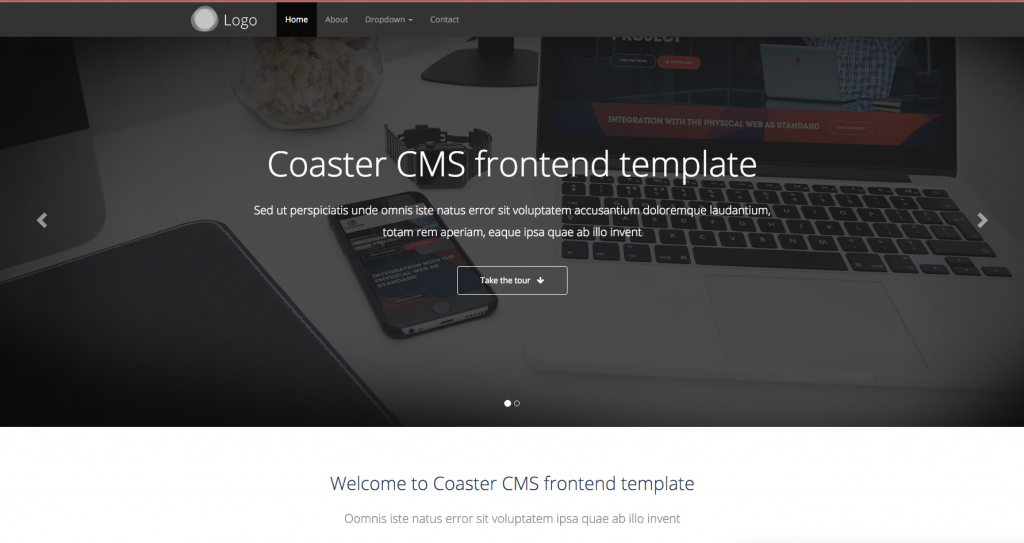 Default Coaster CMS Theme